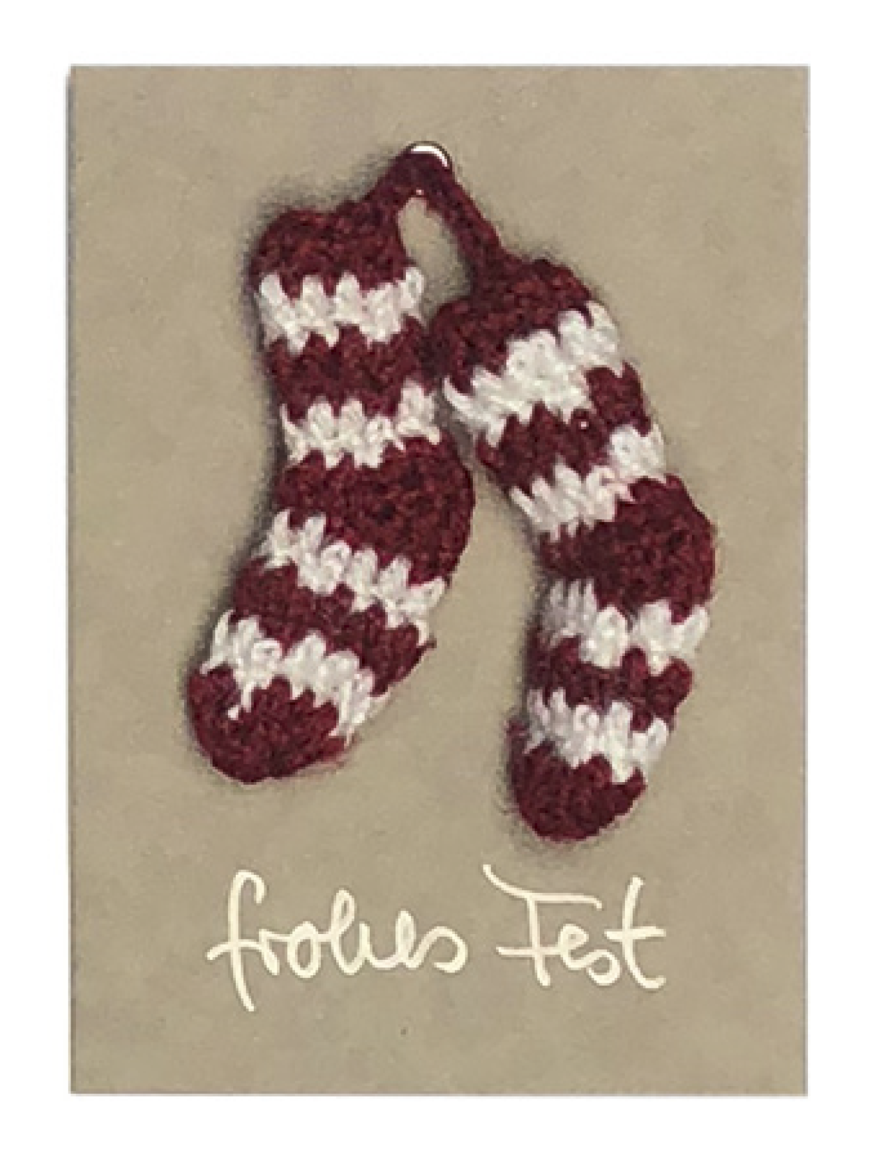 Kärtchen A6 frohes Fest Socke